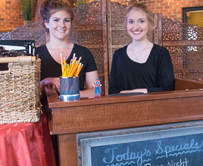 Greeters at Fratelli Bar & Restaurant in LaVale, Maryland.